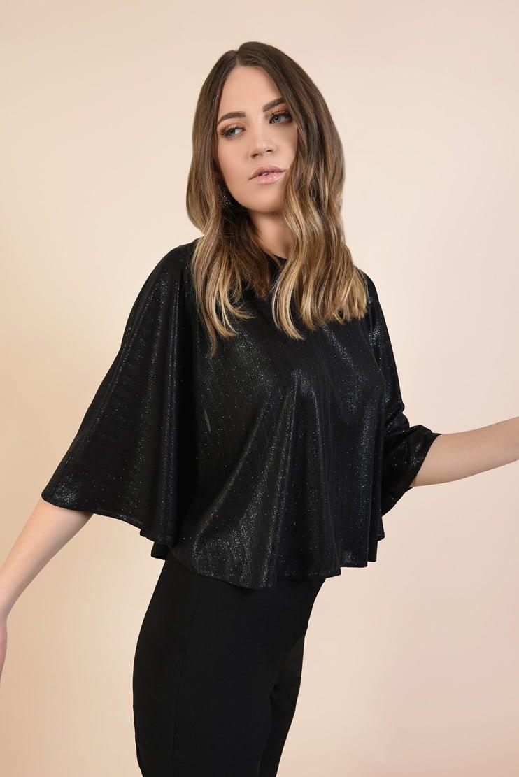 Bluza eleganta din lurex cu glitter