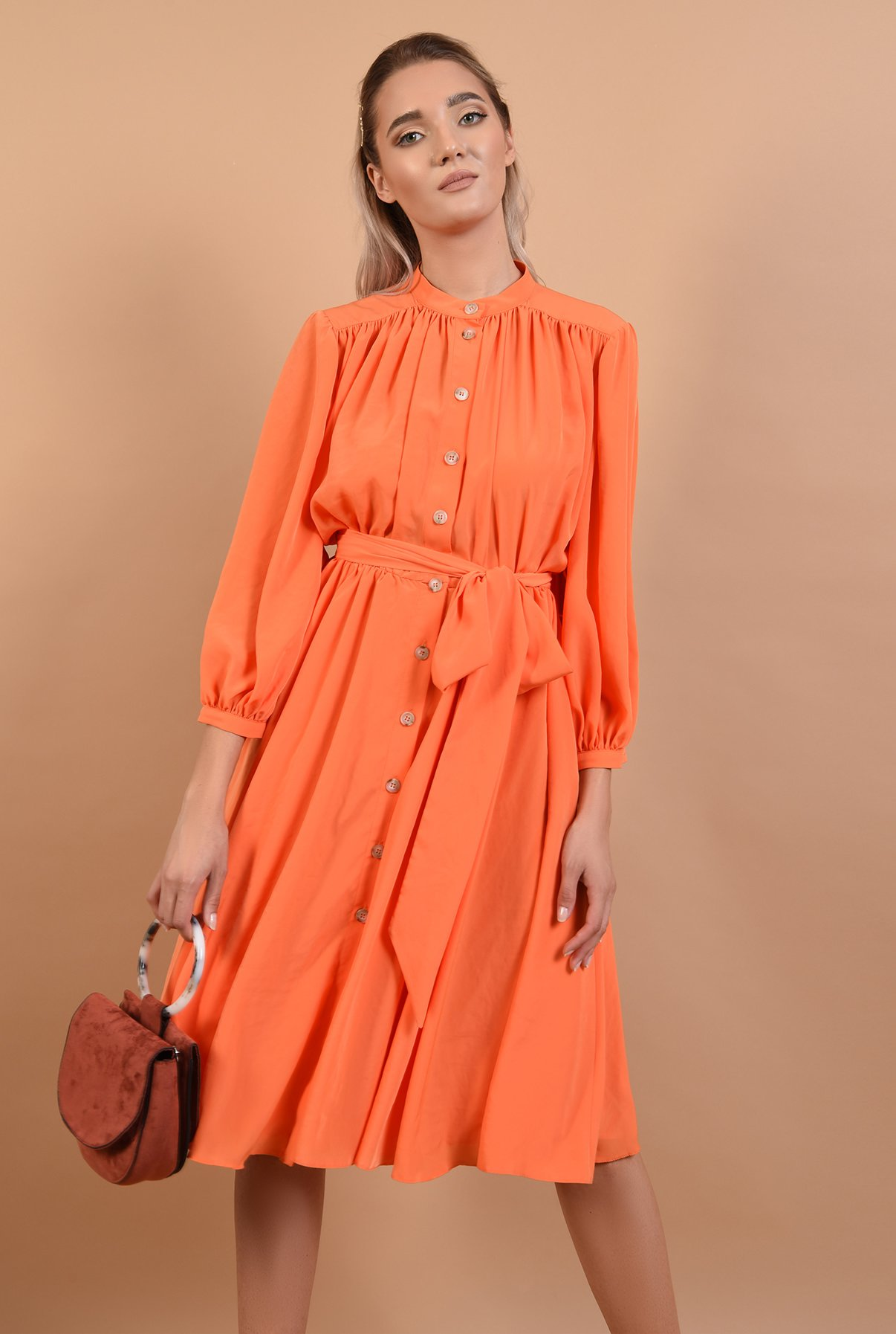 Rochie orange cu cordon - Pre-Fall 2019