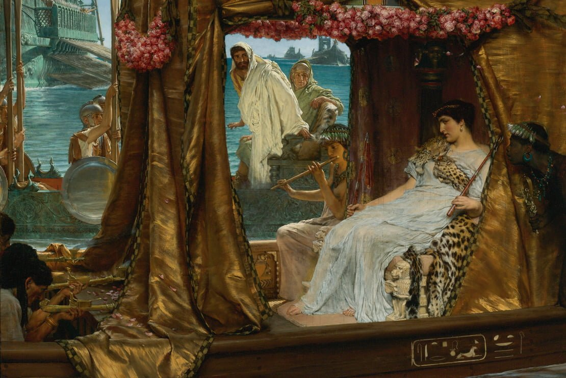 Lawrence Alma Tadema, pictura Antony and Cleopatra