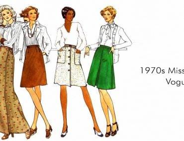 Fuste petrecute Vogue 1980