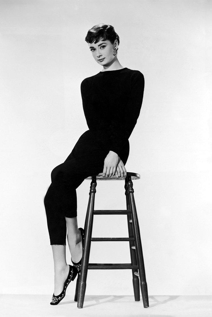 Audrey Hepburn si look-ul androgin