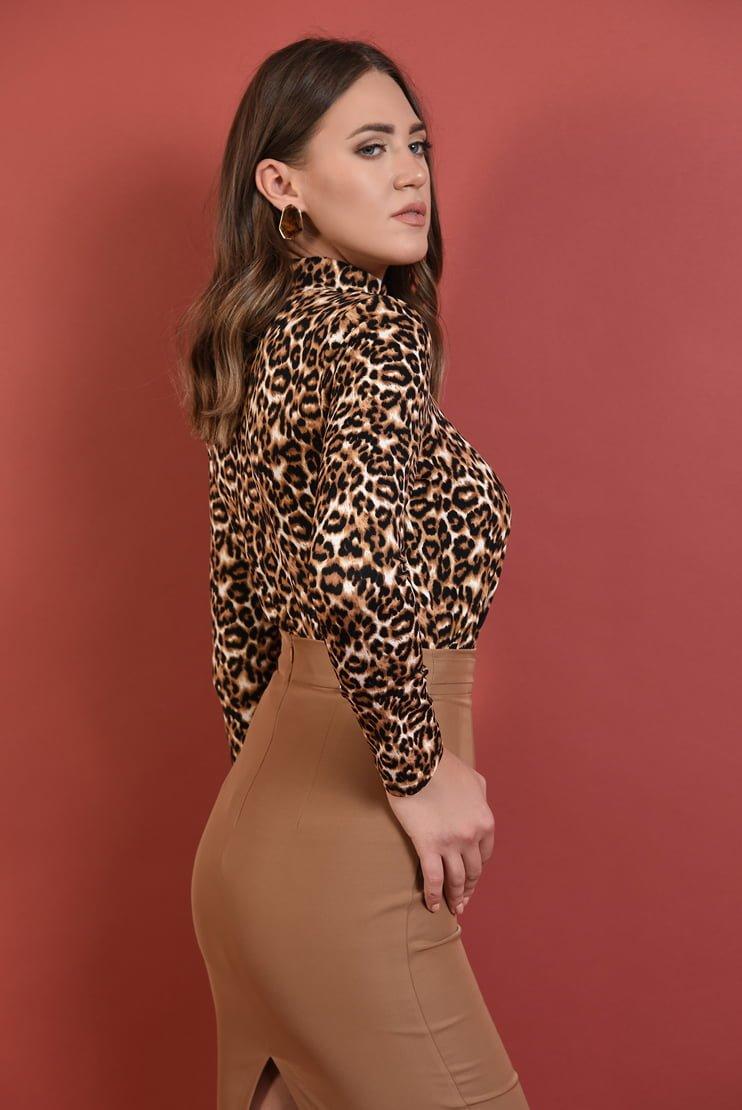 Maleta cu imprimeu leopard
