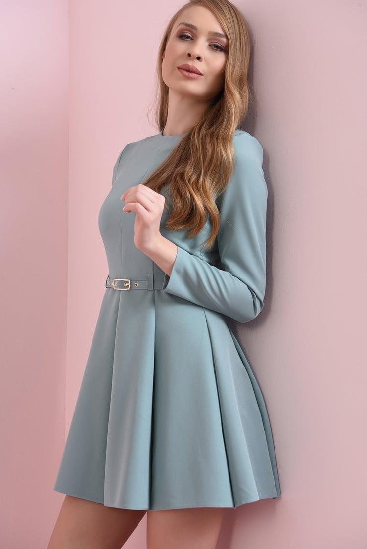 Rochie mini cu pliseuri late