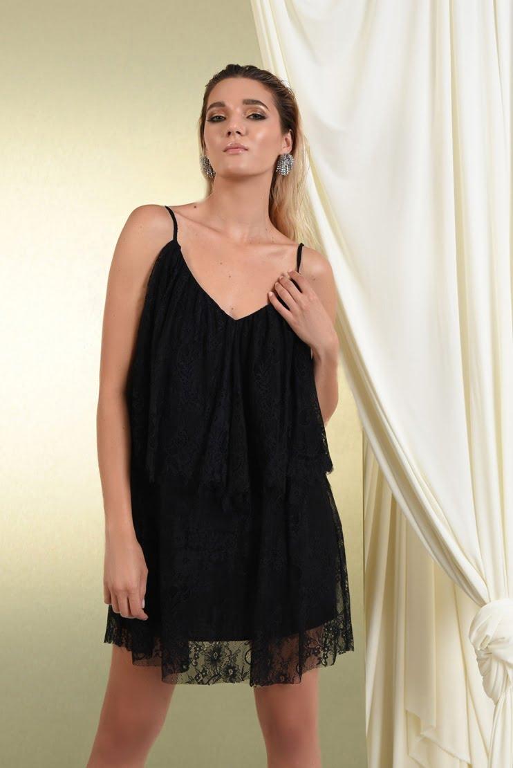 Rochie de seara din dantela neagra