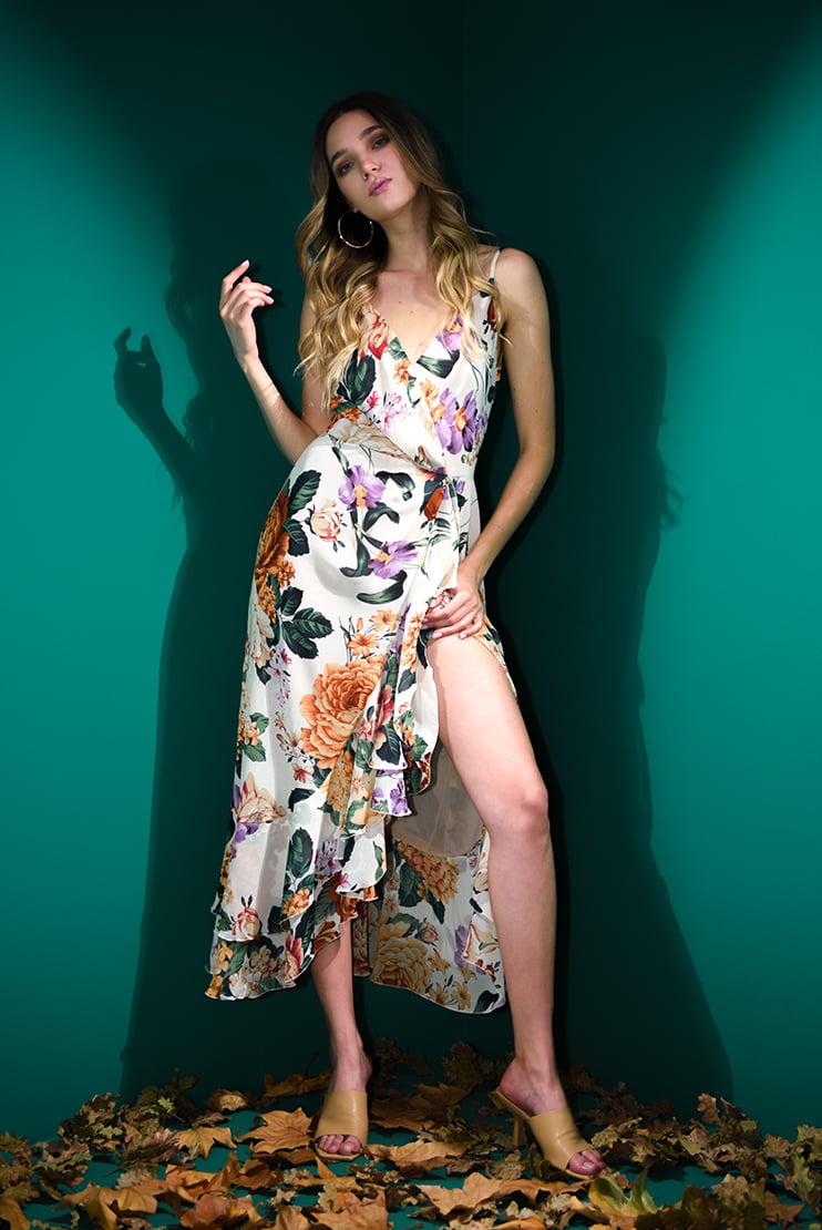 Rochie eleganta cu flori